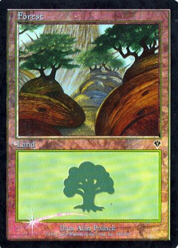 Foil MTG Invasion Forest #349 Various conditions