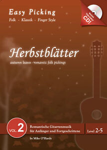 Easy Picking:Herbstblätter Vol. 2 NOTEN-TAB-CD,Folk Fingerstyle,Hanika - <span itemprop='availableAtOrFrom'>Lahnstein, Deutschland</span> - Easy Picking:Herbstblätter Vol. 2 NOTEN-TAB-CD,Folk Fingerstyle,Hanika - Lahnstein, Deutschland