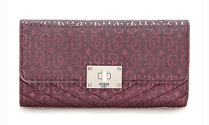 d7417e76e45af Das Bild wird geladen GUESS-HALLEY-Multi-Clutch-Bordeaux-Damen -Geldboerse-Portemonnaie-