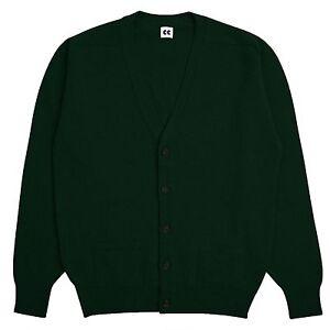 Community-Clothing-Men-039-s-Dark-Green-Cardigan