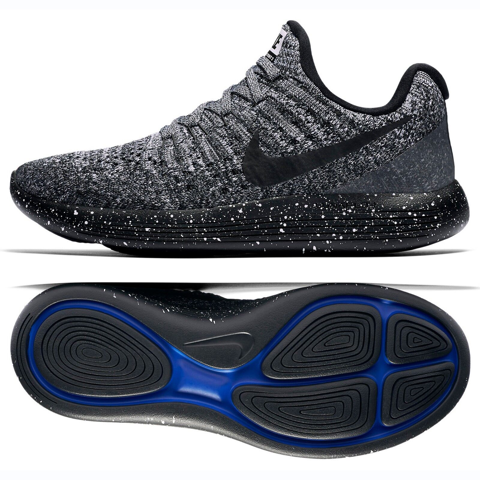 Nike W LunarEpic Low Flyknit 2 Black/Racer Blue Women's Running Shoes