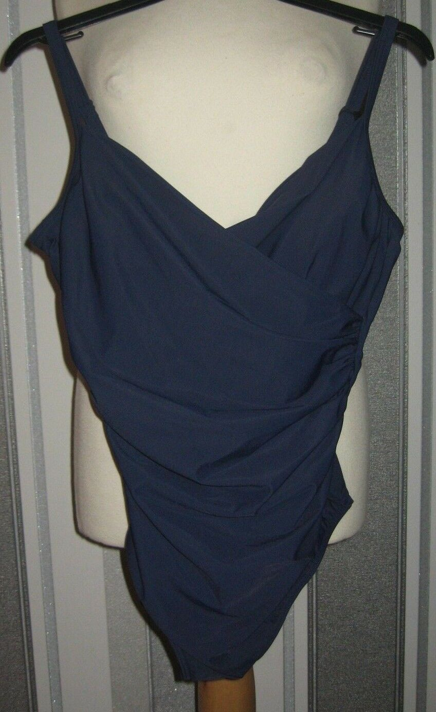 9a9920020dd John Lewis Cross Front Swimsuit, Navy Size 16 Control or nrkdjt4868 ...