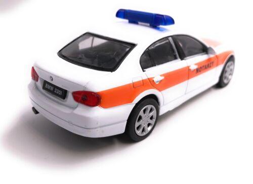 BMW 330i 3.30i 3er Notarzt Modellauto Auto LIZENZPRODUKT 1:34-1:39