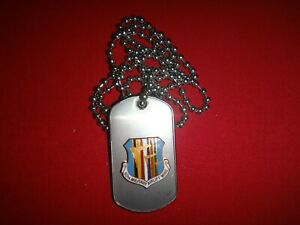 US-60th-MILITARY-AIRLIFT-WING-Stainless-Steel-Dog-Tag-Ball-Chain