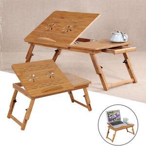 Table-de-lit-pliable-Ordinateur-Pour-PC-portable-notebook-Table-bambou-Plateau