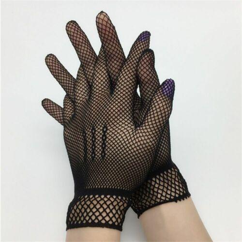 1 Pair UV-Proof Solid Fishnet Driving Thin Nylon Women Summer Mesh Gloves Mitten