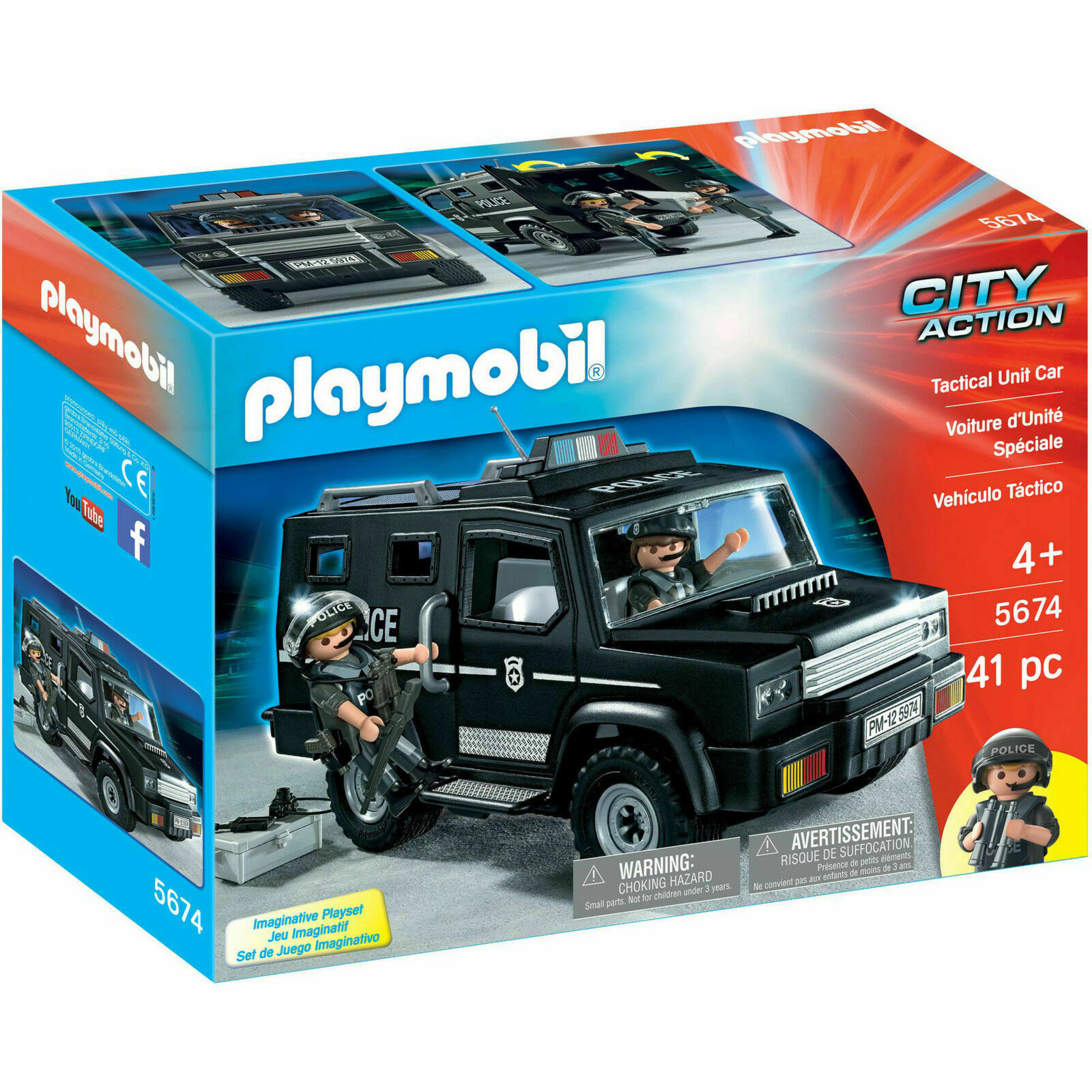 PLAYMOBIL® Tactical Unit Unit Unit Car Playset c0a132