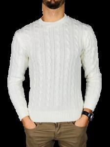 Maglia-maglione-uomo-girocollo-slim-fit-treccia-m-l-xl-xxl-moda-lana-caldo-new