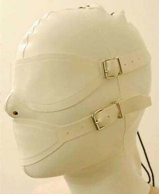 NEW 100% Handmade Latex Rubber Hood Mask Removable goggles masks L25