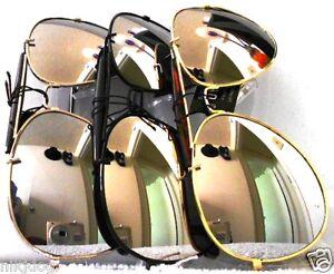 Aviator-Sunglasses-Mirrored-Lenses-with-Brow-Bar-Pilot-Cop-Shades