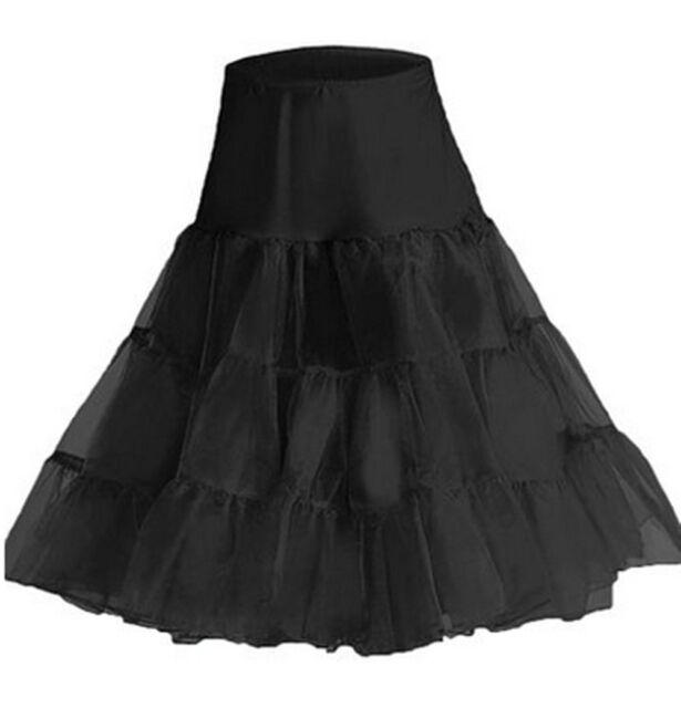 New Tea Length Swing Vintage Prom Slips Crinoline Petticoat Tutu Dress S-XL