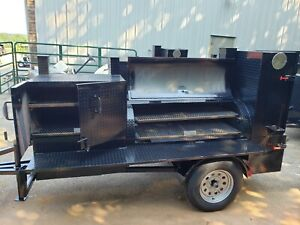 Details about Pro Pitmaster BBQ Smoker 36 Grill Trailer Firebox and Ribbox  Business Food Truck