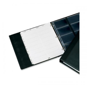 Black PVC Business Card Book with A-Z Index for 240 Cards
