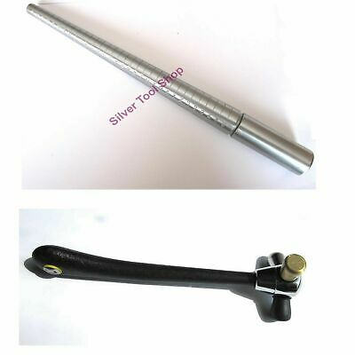 Square Steel Ring Mandrel with Round edges Solid Steel for forming jewllery