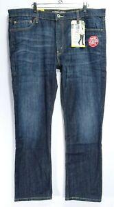 New-Signature-Levi-Mens-Modern-Fit-Skinny-Stretch-Fade-Blue-Denim-Jeans-40-x-30
