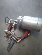 Binks 2001 Professional Spray Gun 2 Qt Pot 38 Amp 14 Hoses Set Up Look