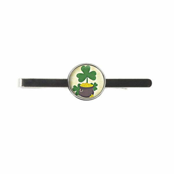 Abundante Shamrock Buena Suerte Corbata Para Hombre Diapositiva Ideal Cumpleaños Boda O Día Padre Regalo C386-ver