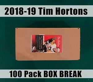 BOX-BREAK-100-PACKS-18-19-TIM-HORTONS-Random-teams-Free-shipping