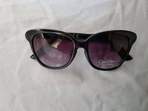 JESSICA-SIMPSON-Cat-Eye-Designer-Signature-Sunglasses-Black-J5237-OX