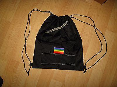 Gay Pride Backpack - LGBT Queer Rainbow Flag Black Nylon LGBTQ Shoulder Bag