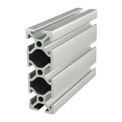 "80//20 Inc 10 Series 1"" x 1"" Two Adj T-Slots Aluminum Extrusion 1002 x 48/"" Long N"