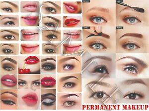 Microblading Semi Permanent Makeup Microshading 3D Embroidery Eye Brows Poster 1