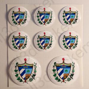 Pegatinas-Cuba-Escudo-de-Armas-Vinilo-3D-Relieve-Pegatina-Cuba-Redondas-Moto