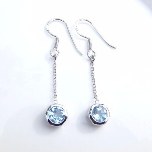 Gemstone Earrings Drop Silver 925 Peridot Garnet Jewellery Topaz Citrine