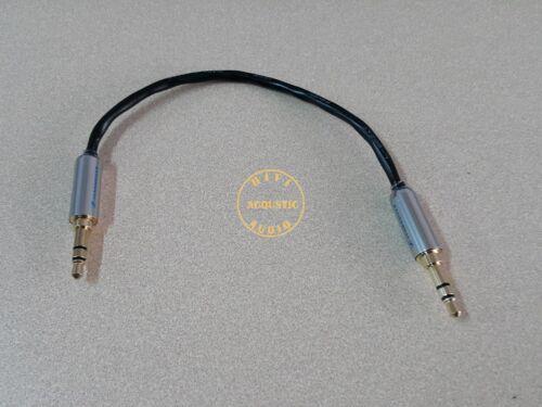 15cm 3.5mm Male Audio Cable Headphone AMP Gold Mini Jack