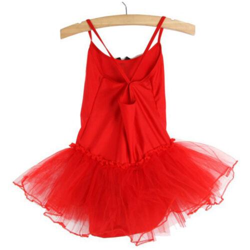 Kid Girl Gymnastics Ballet Tutu Dress Leotard Bodysuits Dance Ballerina Costume
