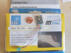 ESU-64610-Quad-LokPilot-V4-Decoder-Kabel-8-pol-Stecker-mfx-M4-MOT-DCC-SX-NEU-OVP