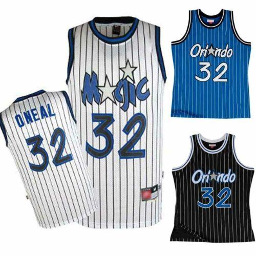 Herren Retro Trikot Shaquille O/'Neal Raptors Basketball Orlando Magic #32 Jersey