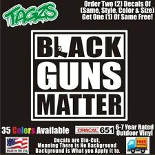 Black Guns Matter Nra 2a Rifle Diecut Vinyl Window Decal Sticker Car Truck