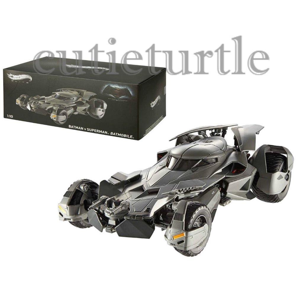 Hot Wheels Elite Batman V Superman Batmobile Dawn Of Justice 1 18 Diecast CMC89