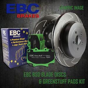 EBC-312mm-Delantero-Discos-De-Rendimiento-BSD-Greenstuff-Pastillas-Kit-Set-PD16KF015