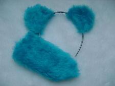 Care Bear Bedtime Bear Turquoise Blue Ears & Stubby Tail Faux Fur Fancy Dress