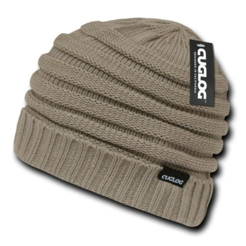 Khaki Knit Warm Reggae Winter Ski Skull Cuff Sweater Beanie Beanies Cap Hat Hats