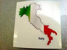 ITALY Flag & Map Motorcycle Helmet Van Car Bumper Sticker Decal 1 off 80mm