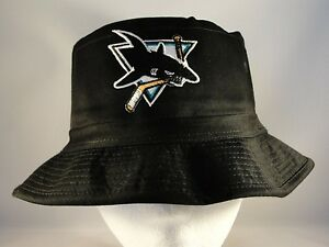ff2c3ec5dcf Image is loading NHL-San-Jose-Sharks-Vintage-Bucket-Hat-Black