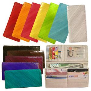 Genuine-Eel-Skin-Standard-Wallet-Purse-Diagonal-Wallet