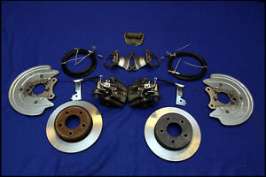 1987-1993 Mustang 5.0 GT 5-Lug Conversion D//S Front Brake Disc Rotors Hawk HPS
