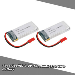 GoolRC-3-7V-1200mAh-25C-JST-Plug-LiPo-Battery-for-WKLIPO-5-10-5G4Q3-SYMA-A8Q0