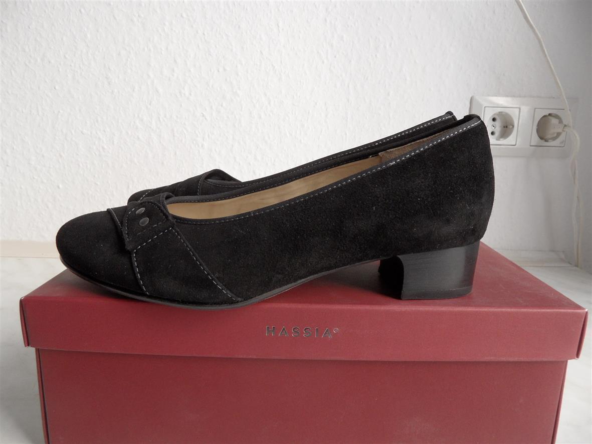 Damen schwarz Pump Hassia schwarz Damen Gr. 3,5 EUR 36,5_11359 a3cb65