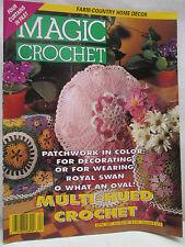 Magic Crochet Magazine April 1994 Patterns Farm Country Home Decor Curtains