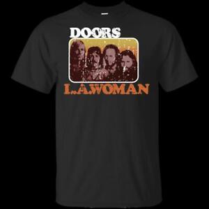 2645f094 Official The Doors LA Woman Fans Black VTG T-Shirt Men Band Rock ...
