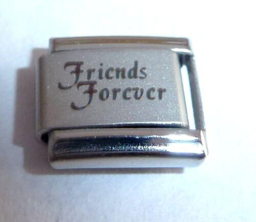 9mm fits Classic Starter Bracelets FRIENDS FOREVER Italian Charm Best Friend