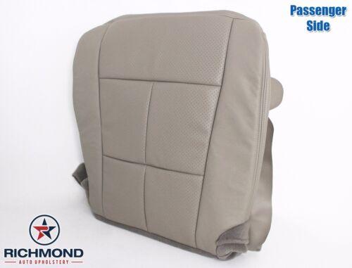 Gray 2011 Navigator-Passenger Side Bottom Leather Seat Cover-Double Stitch Seam
