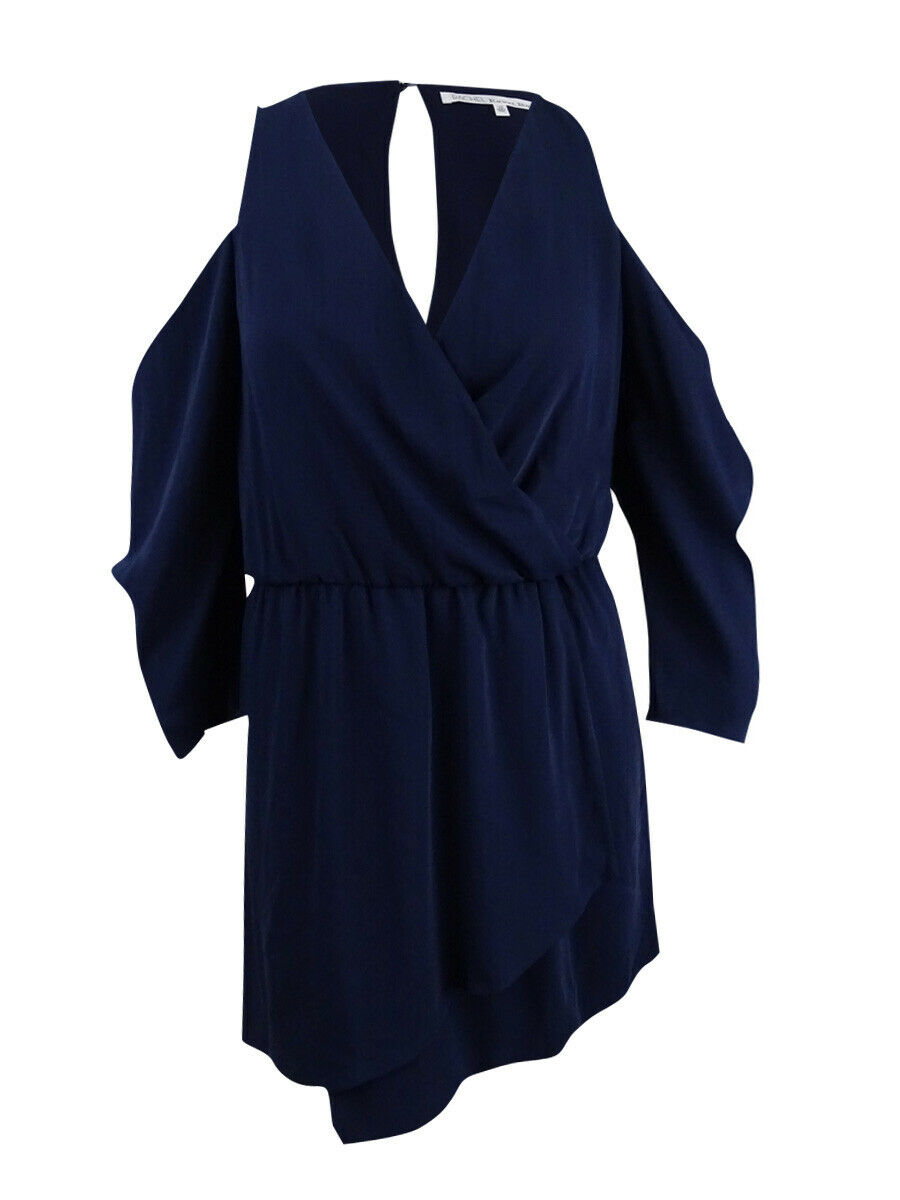 Rachel Roy Women's Cold-Shoulder Blouson Dress (2, Navy)