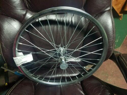 "Front Bicycle 20/"" Wheel 5//16 axle Chrome Steel 36 Hole New WheelMaster"