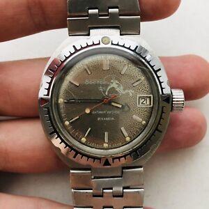 Seltene-Vostok-Scuba-Dude-Diver-Automatic-2614b-UdSSR-Uhr-Sowjetunion-Vintage-Amphibien